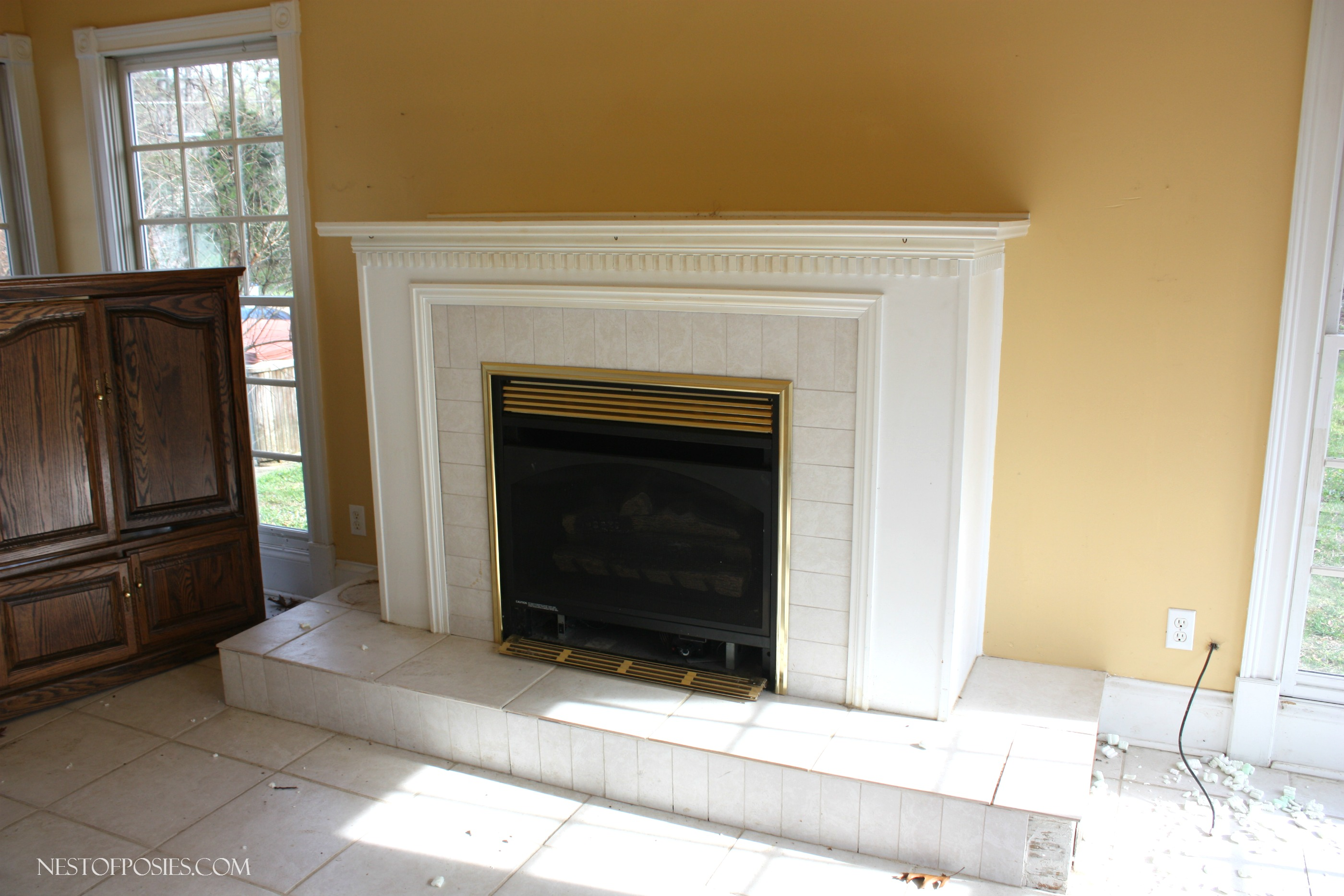 Sunroom Gas Fireplace
