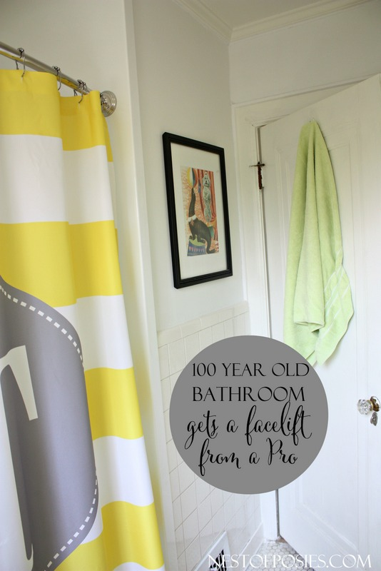 100 year old bathroom gets a facelift