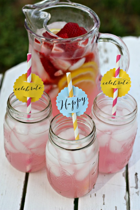 Summer Birthday Celebration drink tags