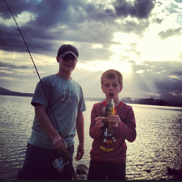 He caught his first fish!