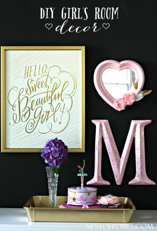 How to decorate a girly bedroom for Diy room decor quotes