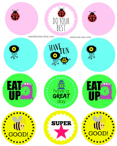 Back to School Printable Stickers