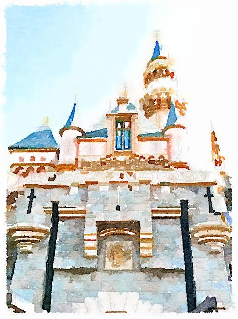 Disneyland Castle in Watercolor