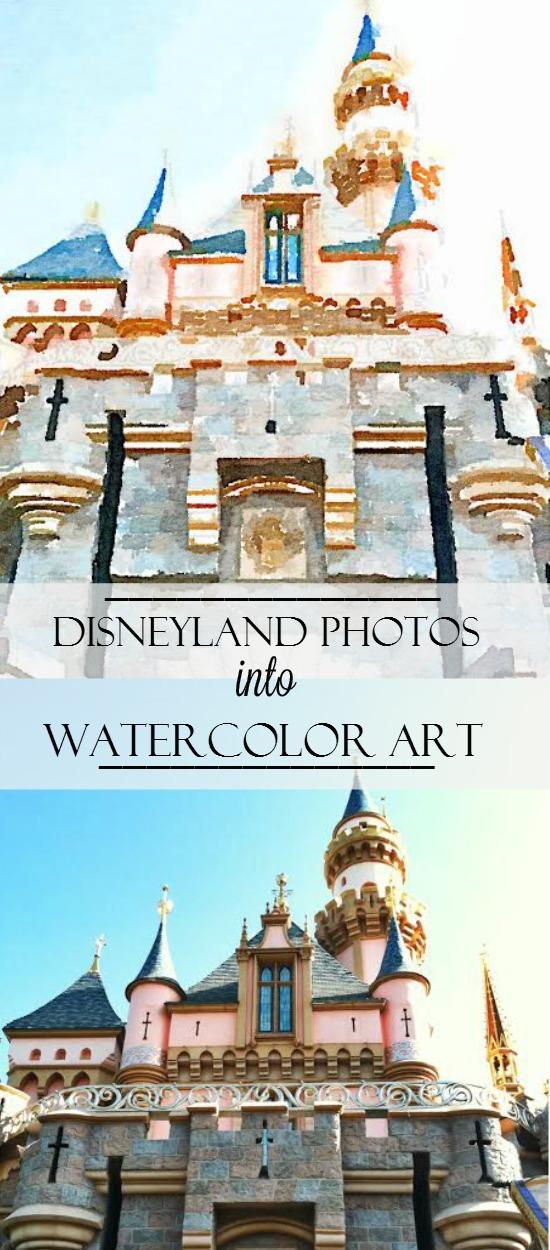 Turn your Disneyland Photos into Watercolor Art