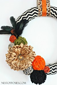 Chevron and Posie Fall Wreath + a Blog Hop