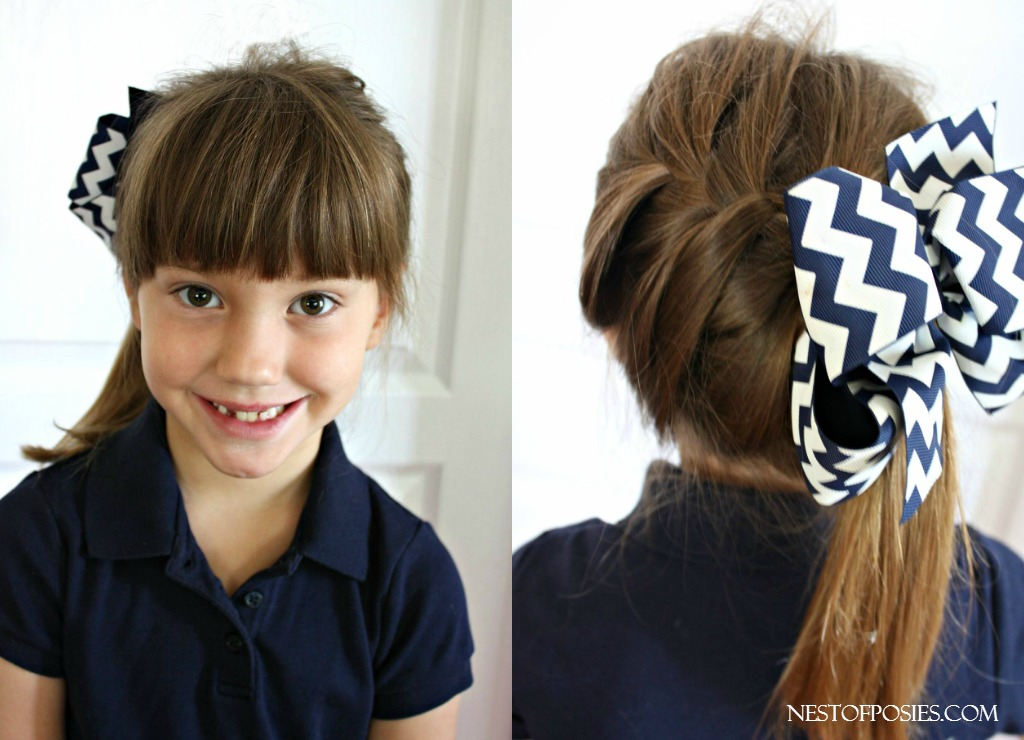 Girls Hairstyle Ideas for Back to School.  French Braid on the side