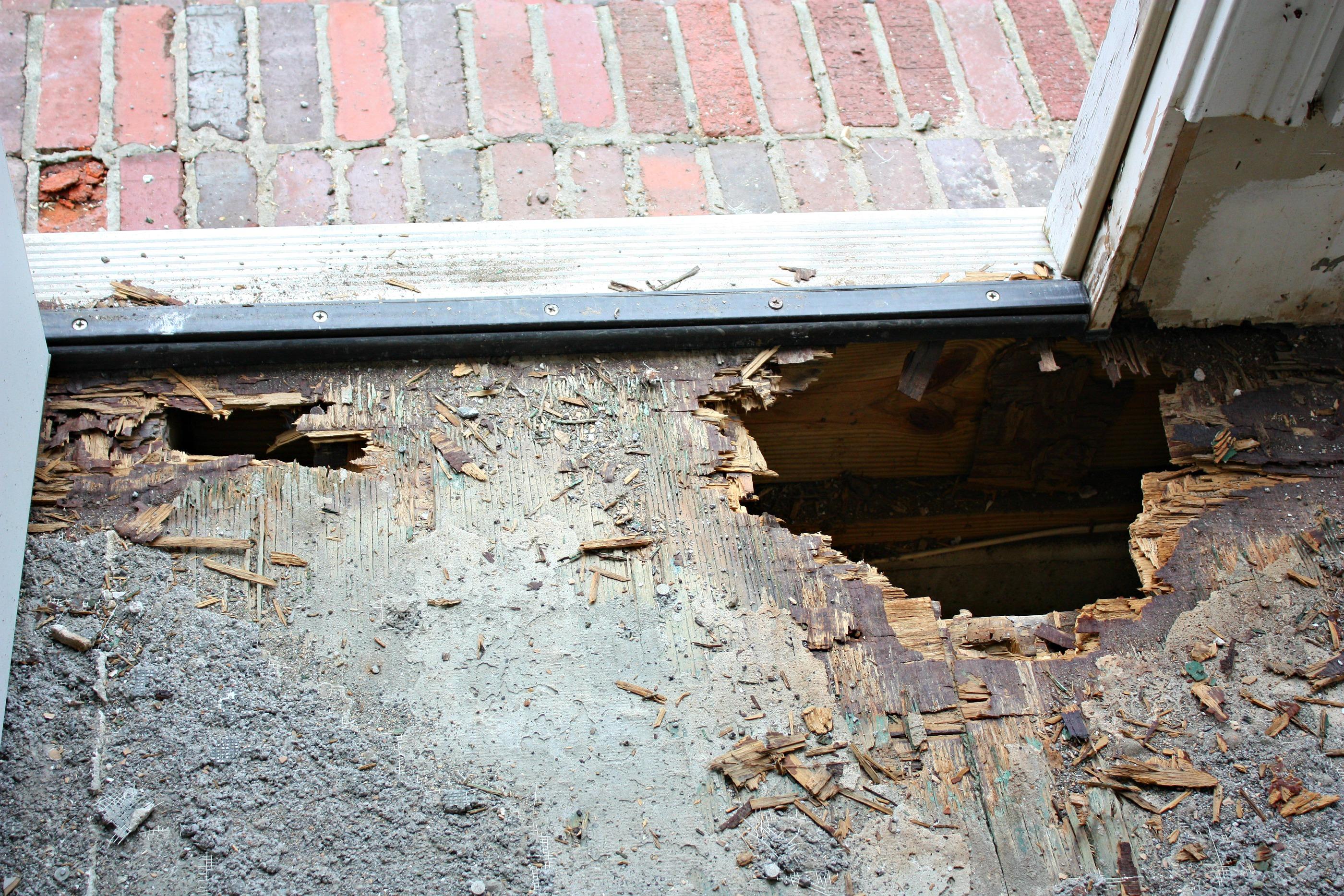 Rotting Floor underneath Tile and Subflooring