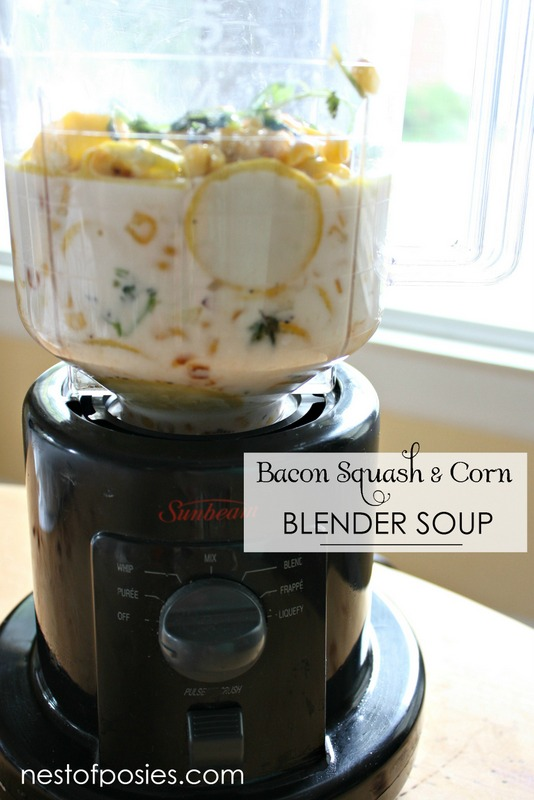 Squash and Corn Blender Soup