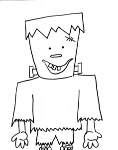 NEW! Goblin Coloring Page | Halloween coloring pages, Coloring ... | 300x237