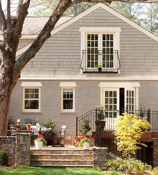 Exterior gray paint colors for Can you paint exterior brick house