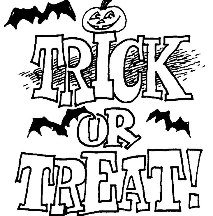 Halloween coloring pages for Halloween pictures to colour in