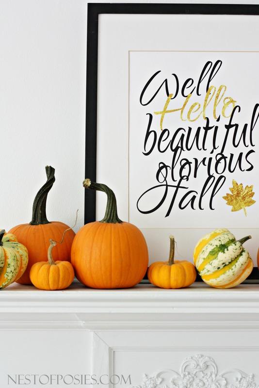 Well Hello beautiful glorious Fall free 11x14 printable