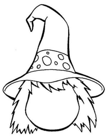 Witch Coloring Page - Nest of Posies