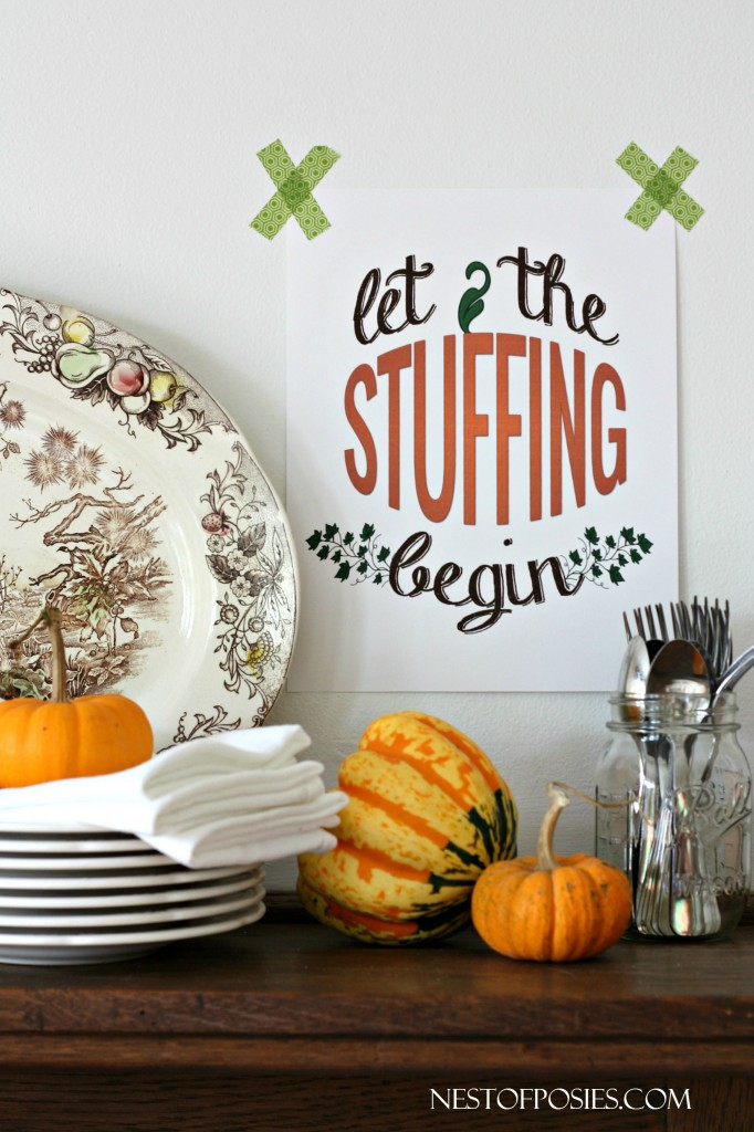 Let the Stuffing Begin - Thanksgiving Printable