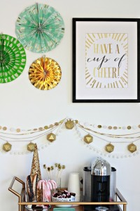 Create a Coffee Station for the holidays + a free printable