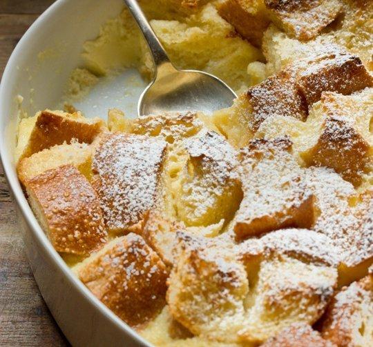 Eggnog Breakfast Bread Pudding