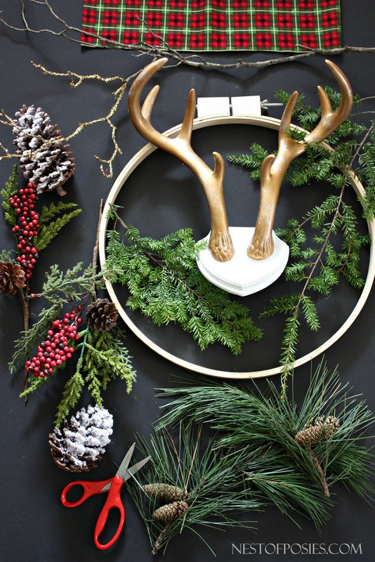 Supplies needed to make a wreath