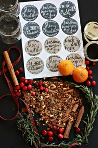 Christmas in a Jar – mulling spices