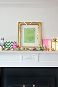 Favorite Things Christmas Mantel and Printable