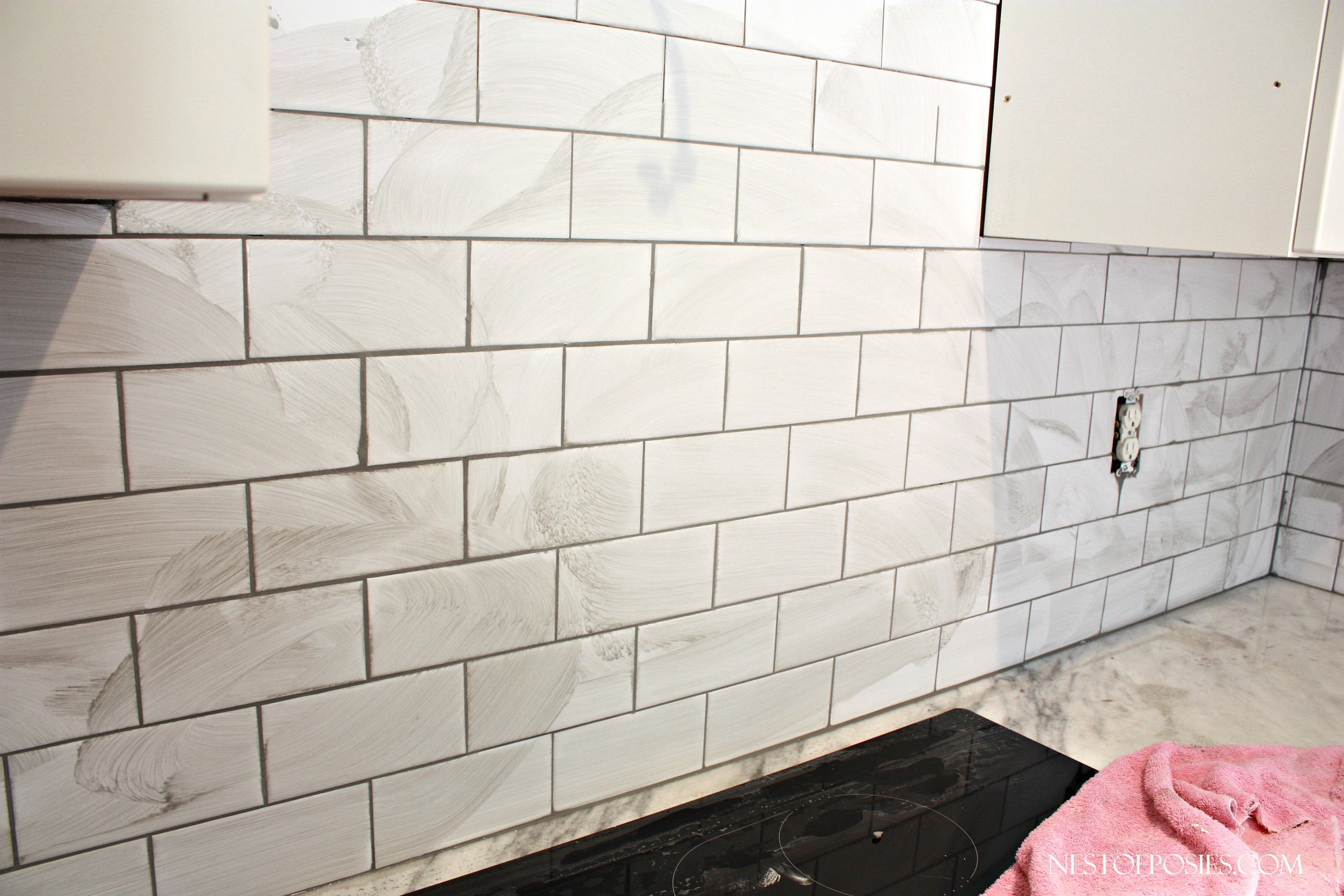 Grout color for white subway tile - Grouting The Subway Tile Backsplash