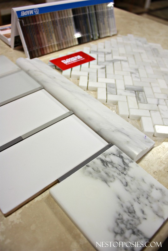 Picking out tile and grout color