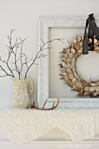 My Winter Bliss Mantel with Free Printable