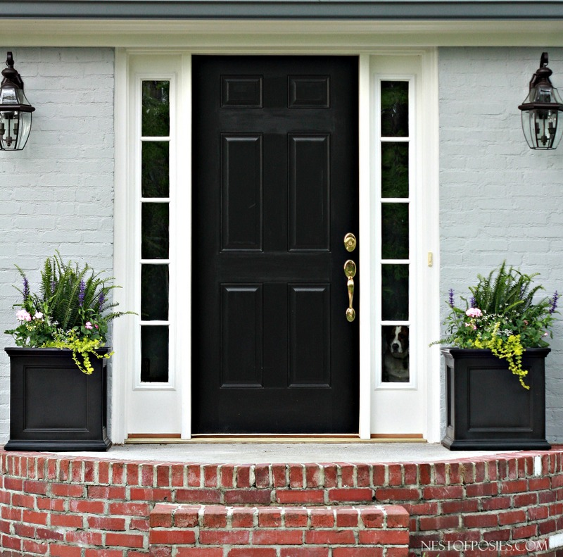 Grey Front Home Entrance Ideas With Small Terrace Can Add: Front Porch Curb Appeal