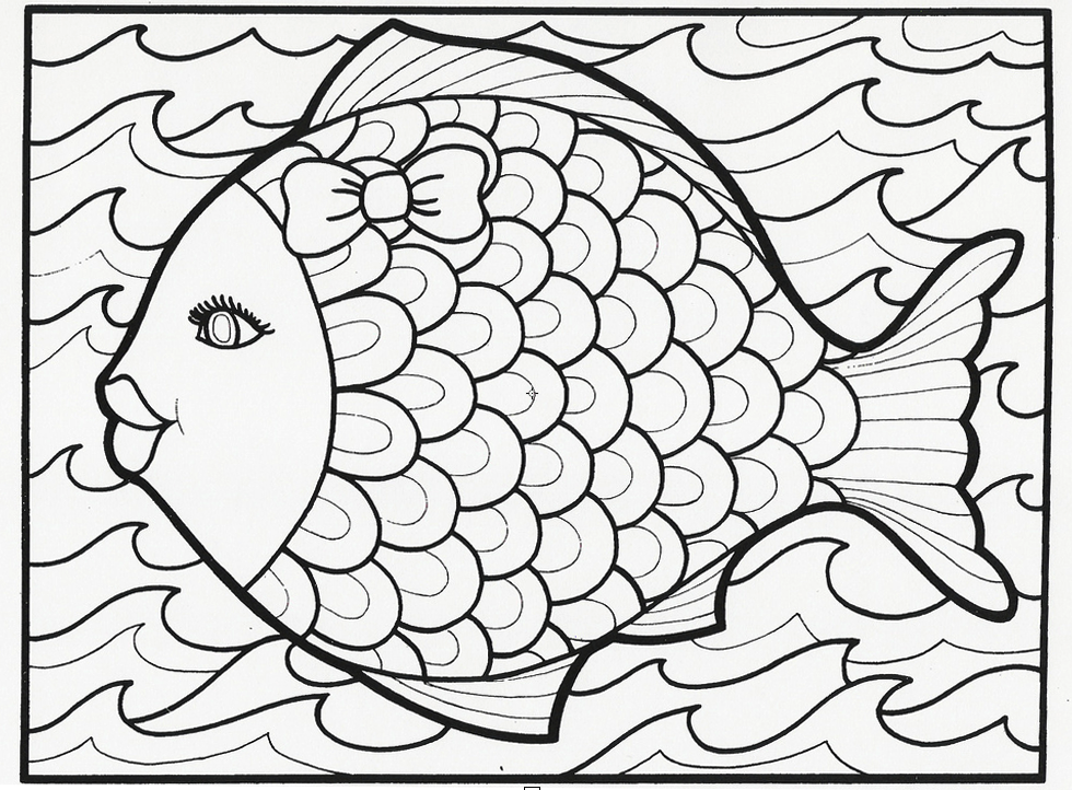 fish coloring page - Summer Coloring Page