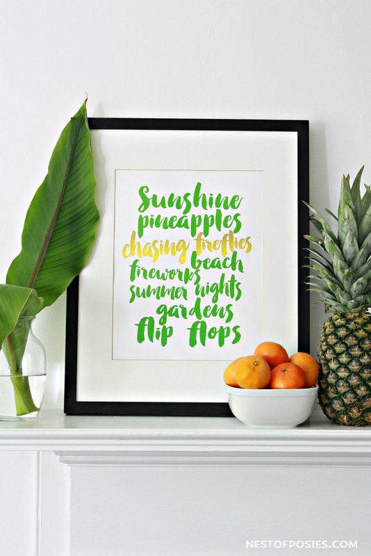 Free Summer Printable Download