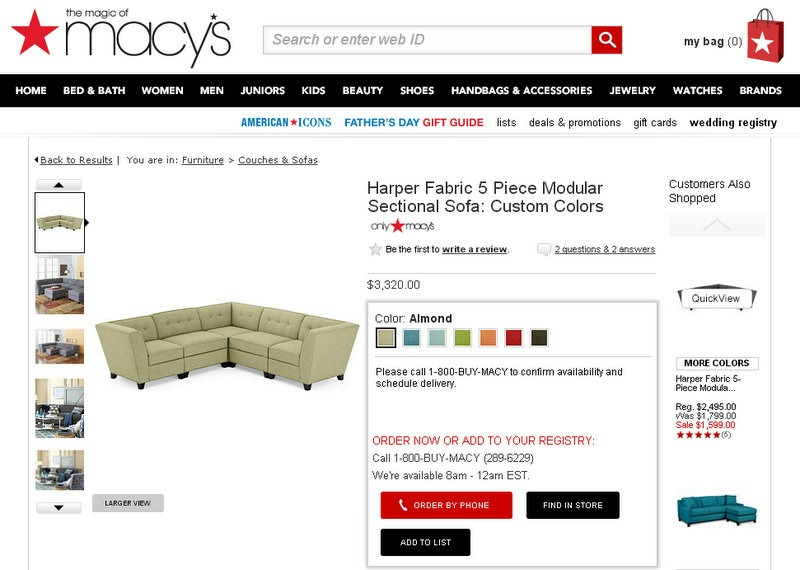 Harper Modular Sectional From Macy S
