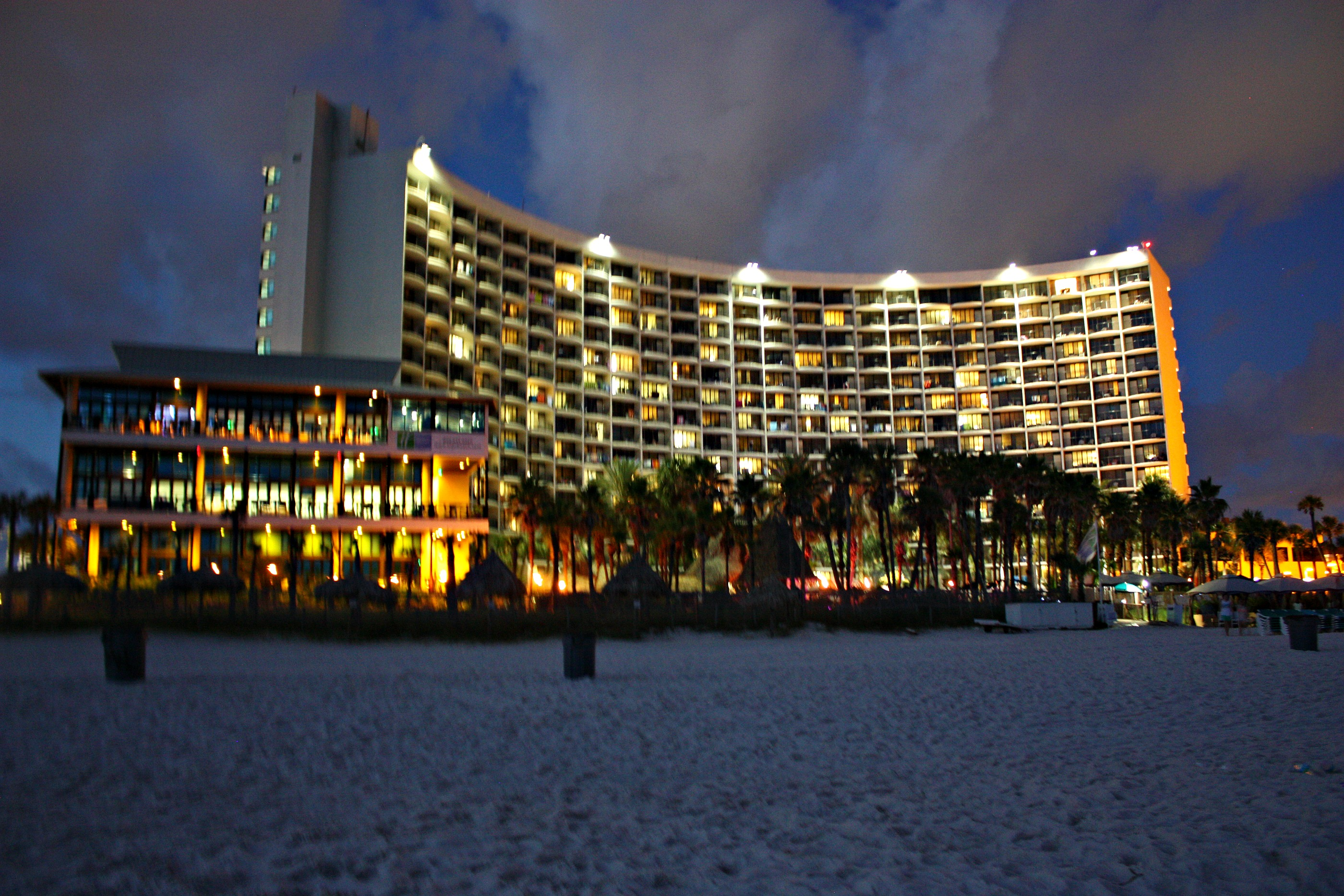 Night View of the Holiday Inn Resort in PCB