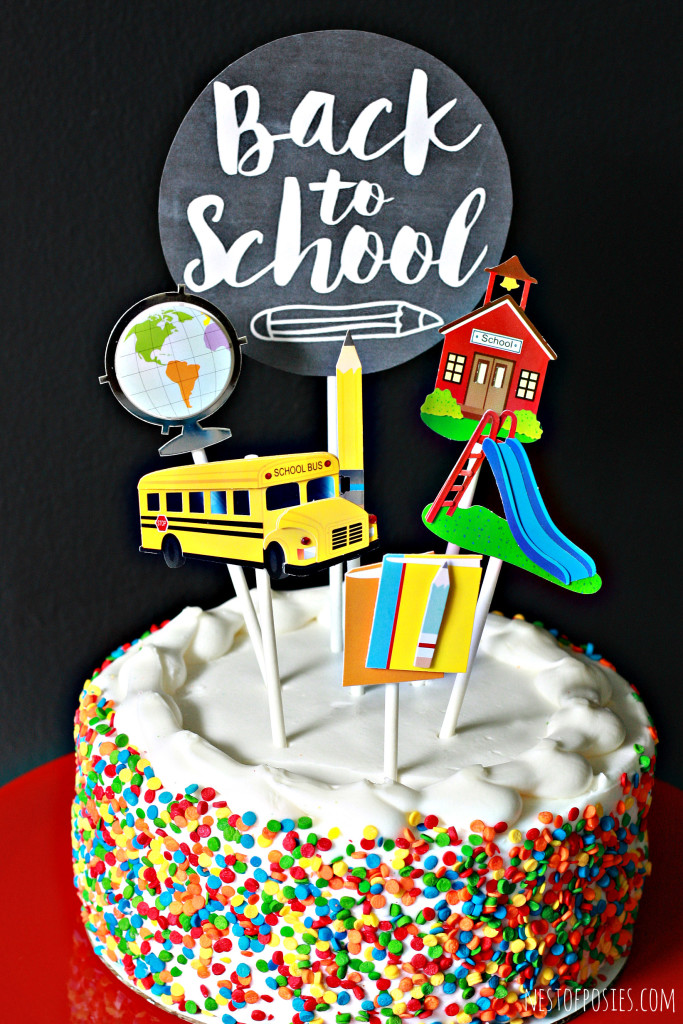 Back to School Cake Toppers!  Celebrate the first week with this free printable