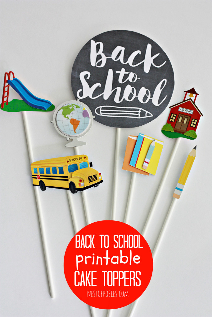 Celebrate Back to School with a printable cake topper.  Free download