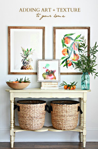 Adding art and texture to your home + a GIVEAWAY!
