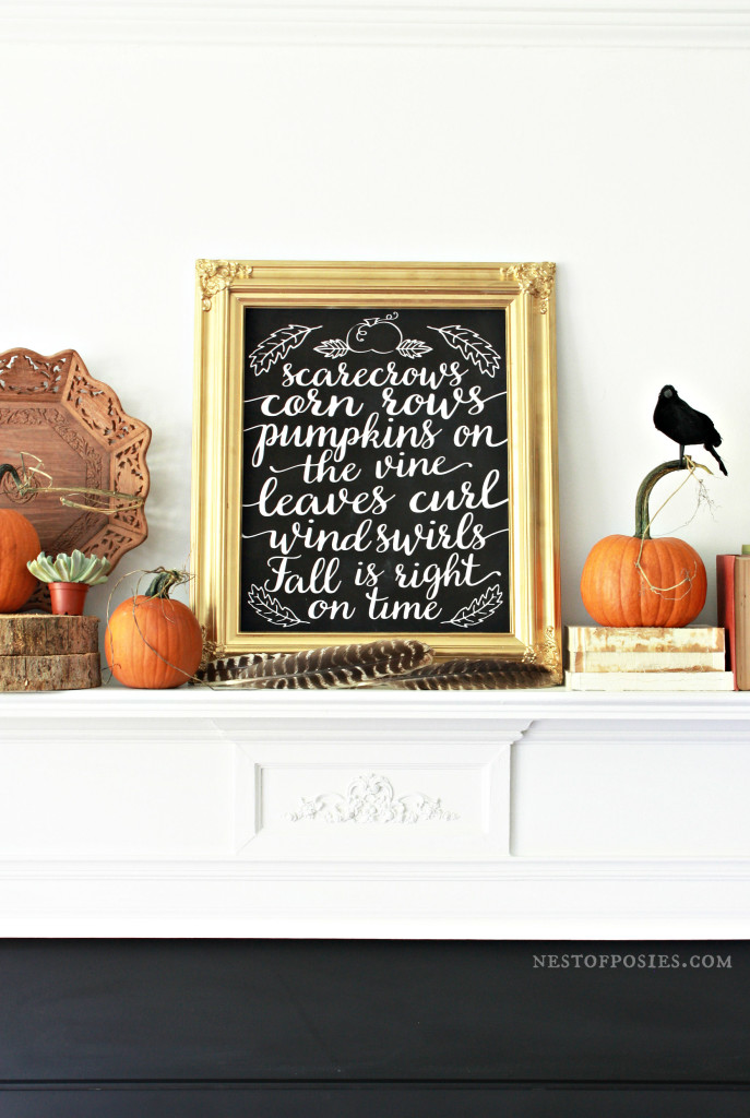 Fall Chalkboard Printable in 8x10 or 11x14 Free download