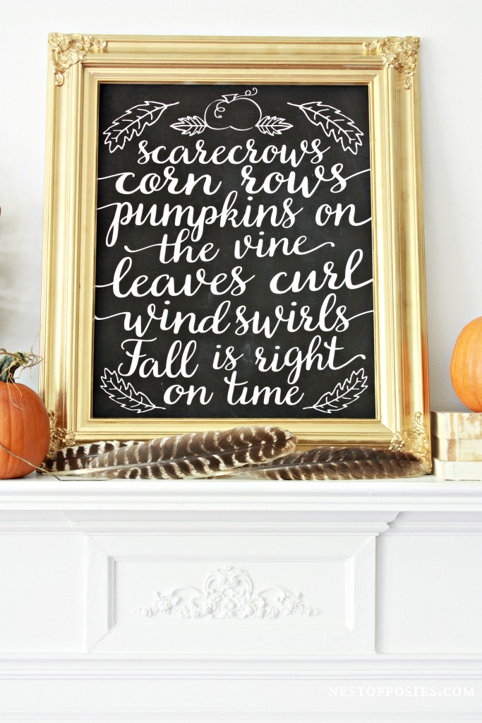 Free Fall Printable Download in several sizes and color options