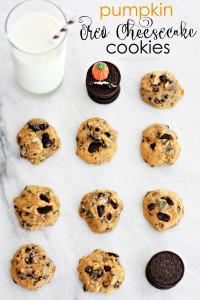 Pumpkin Oreo Cheesecake Cookies