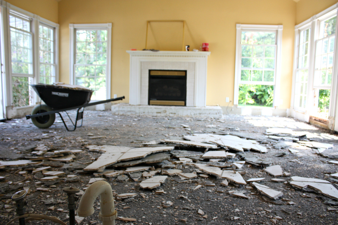 Tearing Up Tile To Replace With Hardwood Floors Nest Of Posies