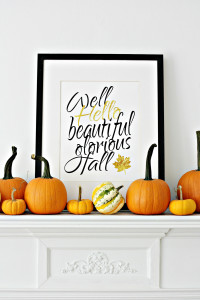 Tips on Decorating a Fall Mantel for Cheap