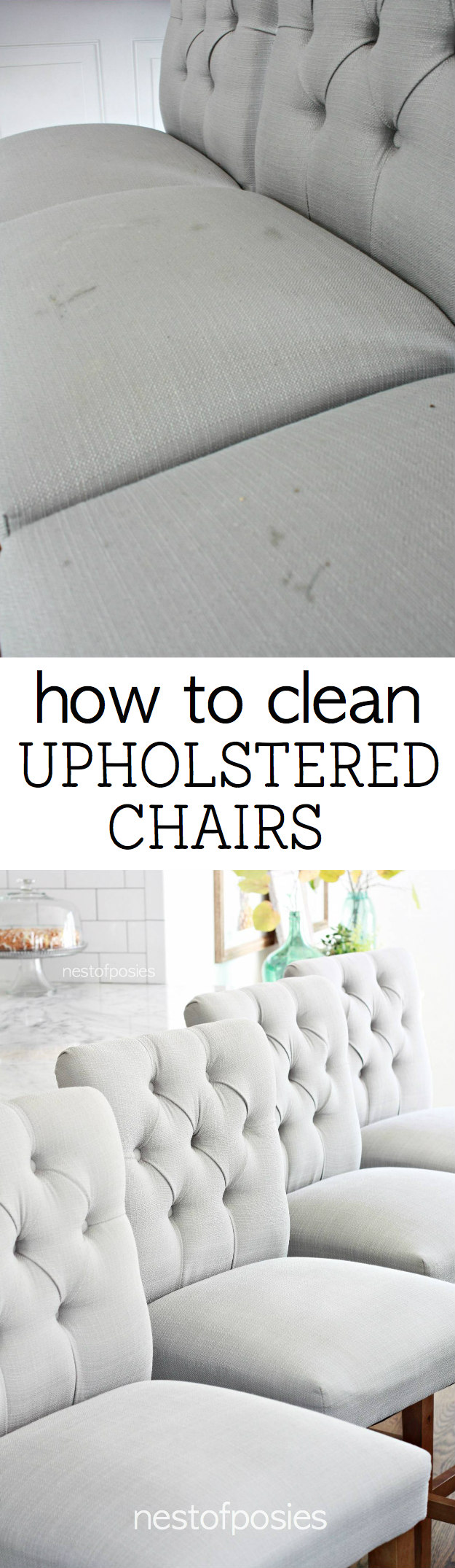 How To Clean Upholstered Chairs. My Cleaning Tricks Even With 3 Young Kids  Eating On