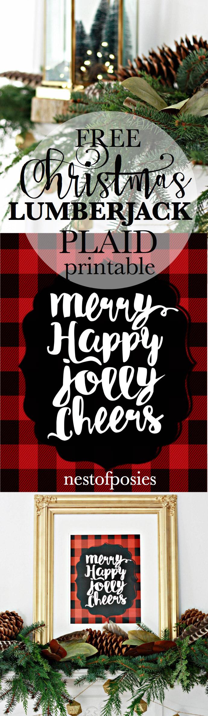 Free Christmas Lumberjack Plaid Printable
