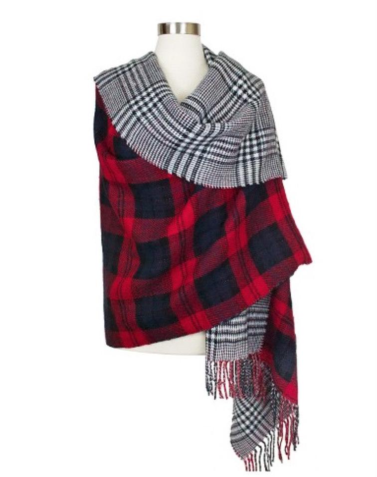 Lumberjack Plaid Blanket Scarf