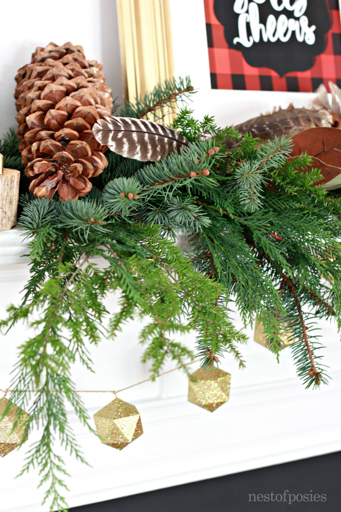 Lumberjack Plaid Christmas Printable on mantel