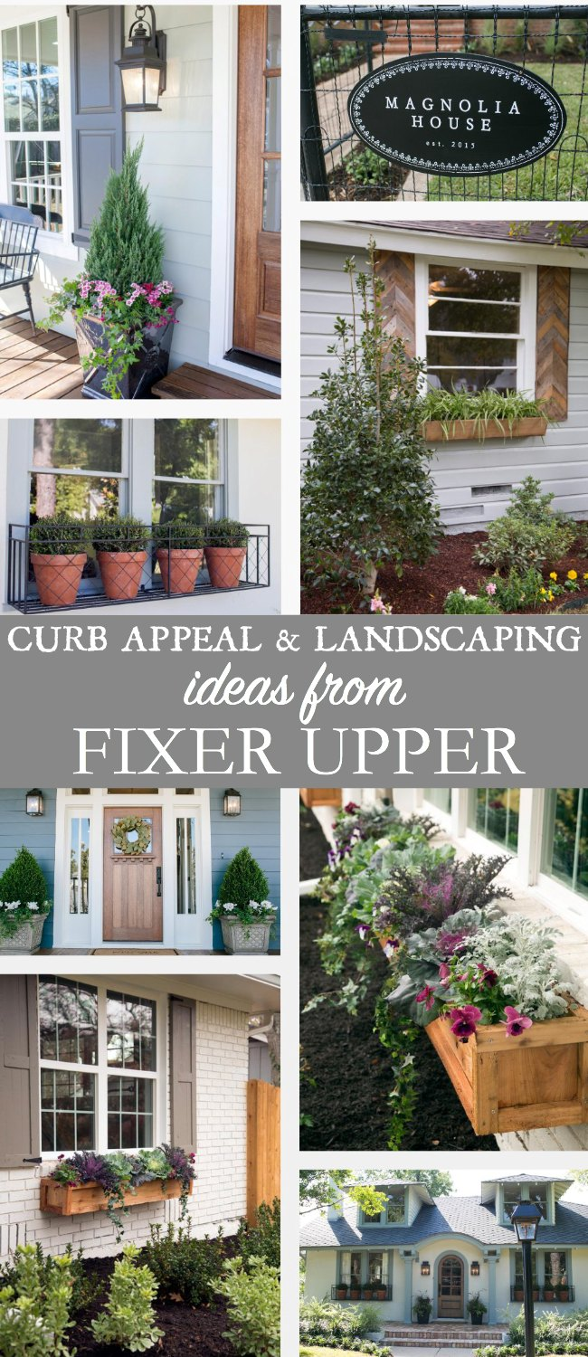 Curb appeal and landscaping ideas from fixer upper for Curb appeal landscaping