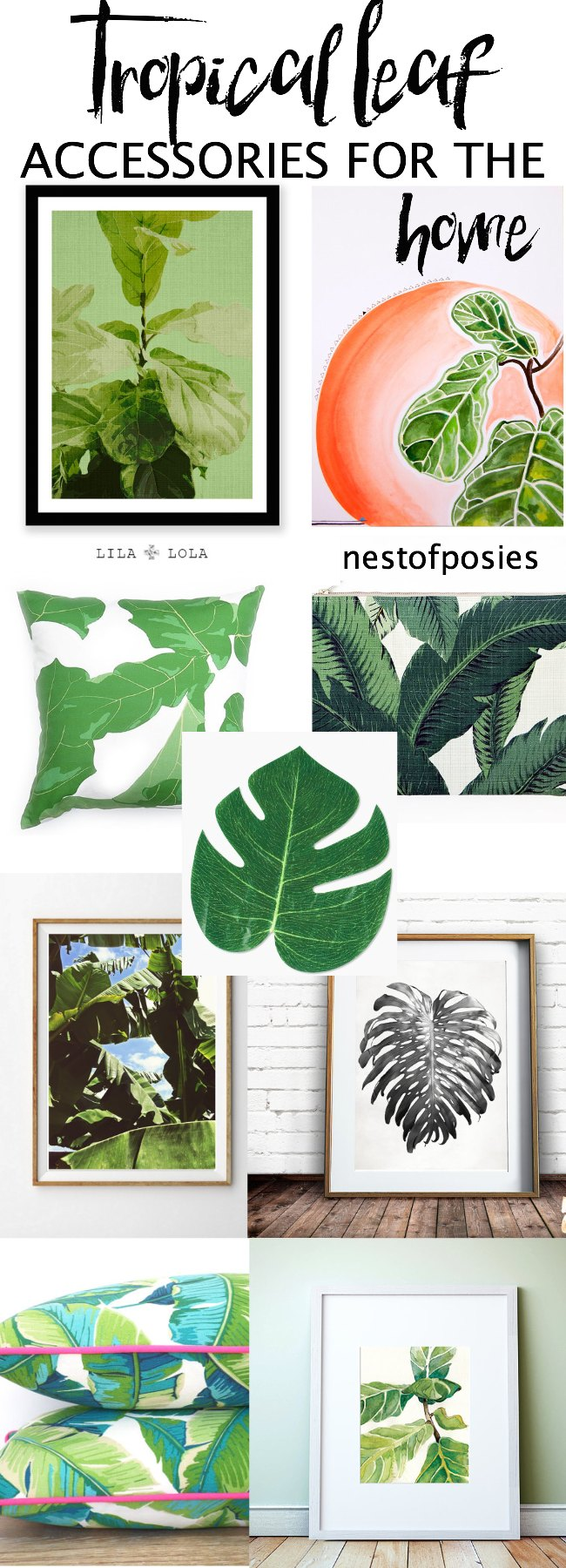 Tropical Palm Leaf Accessories for the home