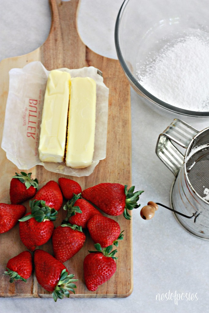 Ingredients for Strawberry Butter