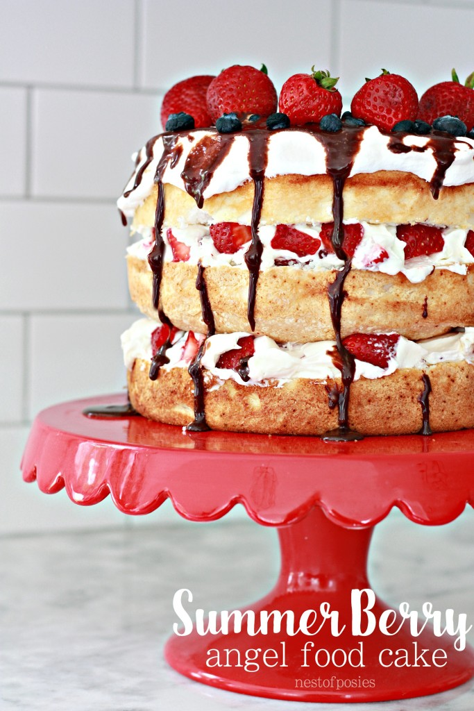 Summer Berry Angel Food Cake