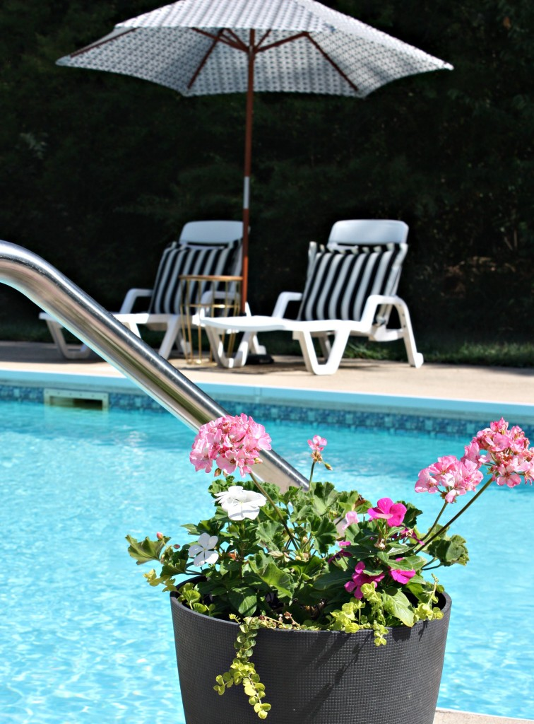Pool After with flowers