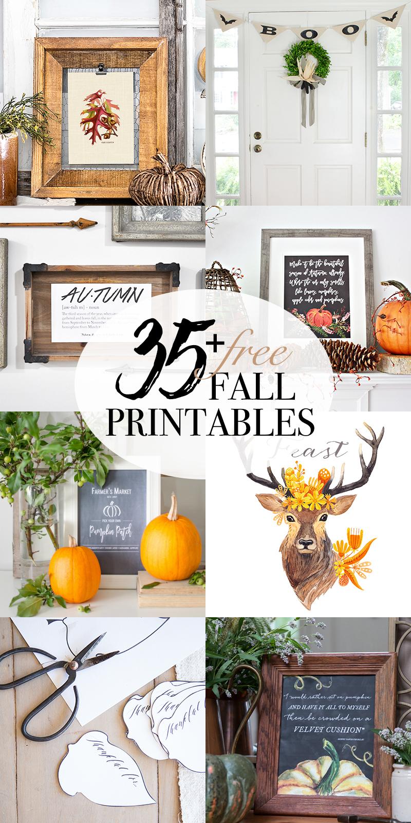 Make it be beautiful Autumn printable and Fall mantel