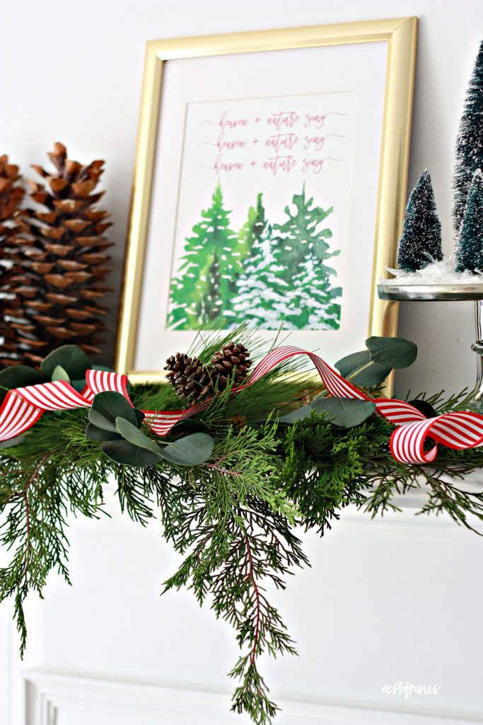 Christmas Decor Ideas And Free Printable Nest Of Posies